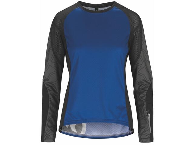 ASSOS Trail Maglia jersey a maniche lunghe Donna, twilight blue